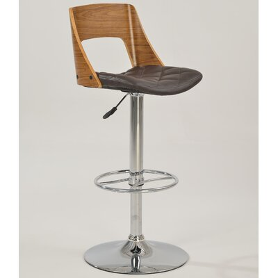 Adjustable Height Bar Stool with Cushion by Chintaly