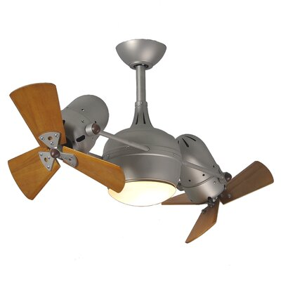 "Matthews Fan Company 41"" Dagny 6 Blade Dual Ceiling Fan with Wall Remote"