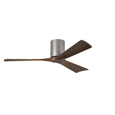 "52"" Irene 3 Blade Ceiling Fan with Hand Held and Wall Remote Product Photo"