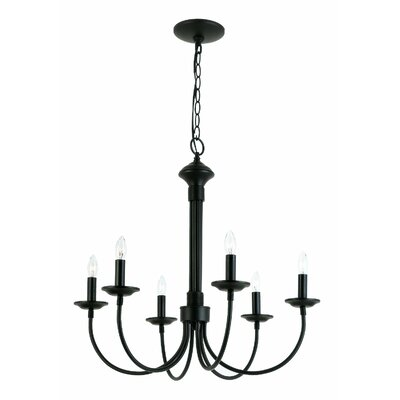 Pilgram 6 Light Chandelier by TransGlobe Lighting