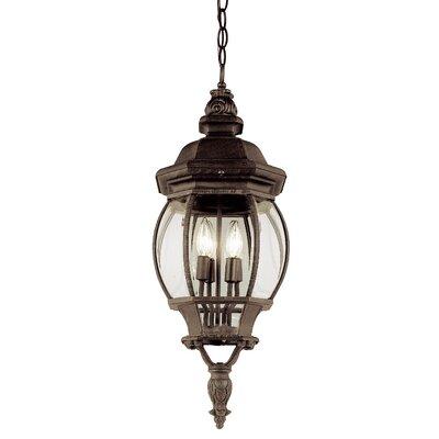 TransGlobe Lighting 4 Light Outdoor Hanging Lantern