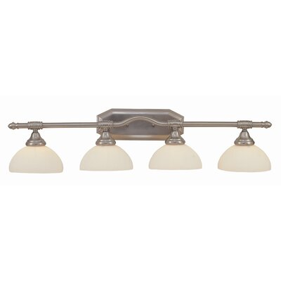 4 Light Vanity Light with Opal Glass Product Photo