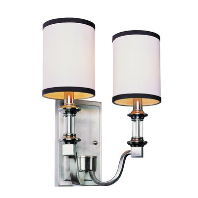 TransGlobe Lighting Modern Meets Traditional 2 Light Wall Sconce