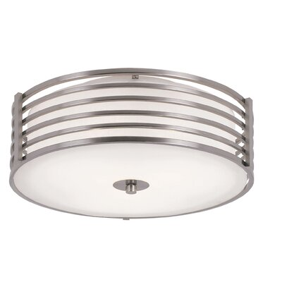 2 Light Small Metal Flush Mount Product Photo