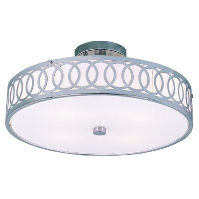 Contemporary 4 Light Semi Flush Mount Product Photo