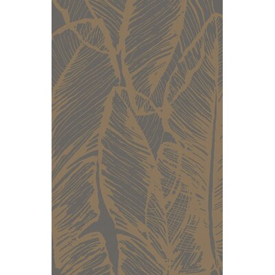 Modern Classics Slate Floral Rug by Candice Olson