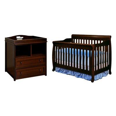 AFG Furniture Alice 3-in-1 Convertible 2 Piece Crib Set 4689C 008C