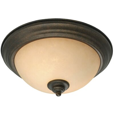 Heartwood 2 Lights Flush Mount by Golden Lighting