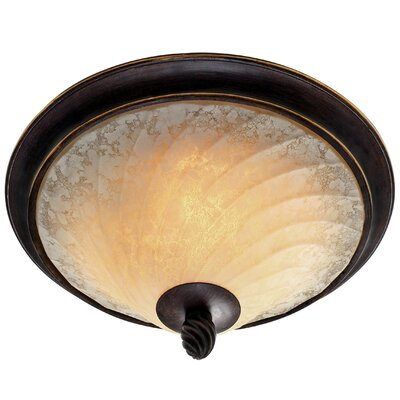 Torbellino 2 Lights Flush Mount by Golden Lighting