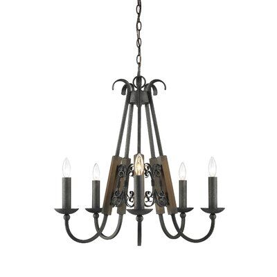Moreno 5 Light Candle Chandelier by Golden Lighting