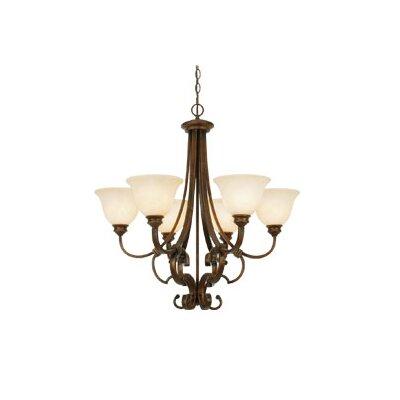 Rockefeller 6 Light Chandelier by Golden Lighting