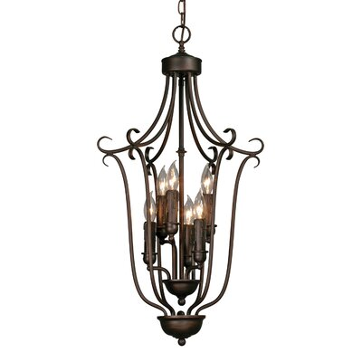Multi Family Caged Foyer Pendant by Golden Lighting