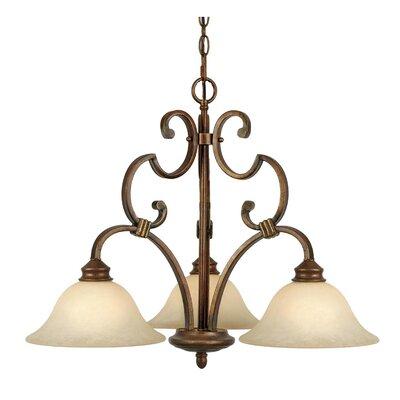 Rockefeller 3 Light Nook Chandelier by Golden Lighting