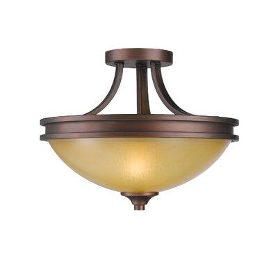 Golden Lighting Hidalgo 2 Lights Semi Flush Mount