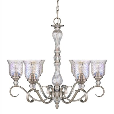 Alston Place 6 Light Crystal Chandelier by Golden Lighting