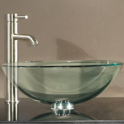 Tempered Glass Vessel Bathroom Sink by Avanity