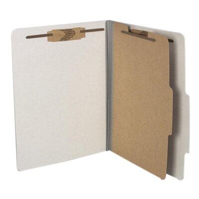 Acco Brands, Inc. Pressboard, 25 Point, 8 1/2 x 11, 4-Section, Metallic Gray