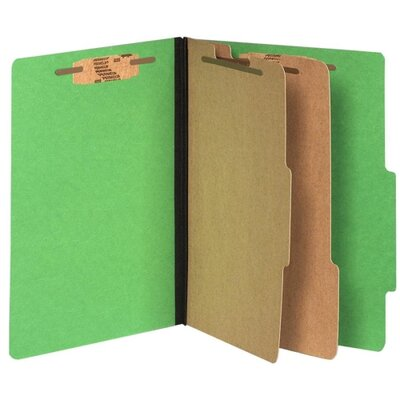 """Acco Brands, Inc. Top-Tab Folders,w/ Fasteners,3""""Exp,Letter,10/BX,Green"""