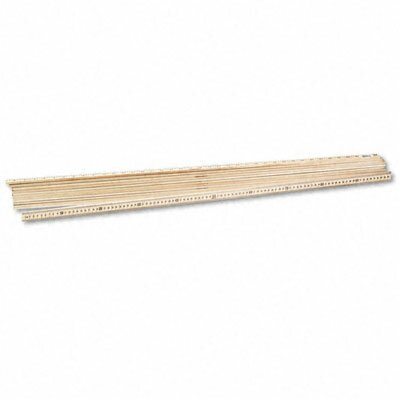 """Acme United Corporation One Meter (39-1/2"""") Wood Stick Ruler, Clear Lacquer Finish, 12 per Box"""