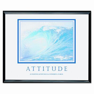 Advantus Corp. 'Attitude/Waves' Framed Photographic Print