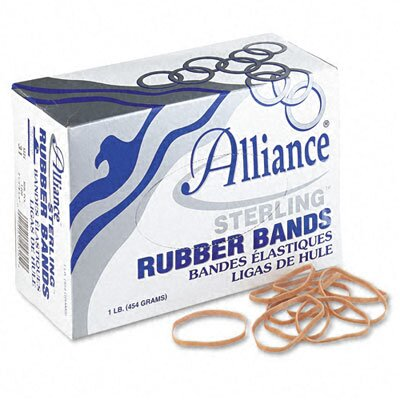 Alliance Rubber Sterling Ergonomically Correct Rubber Band, #31, 2-1/2 X 1/8, 1200 Bands/1Lb Box