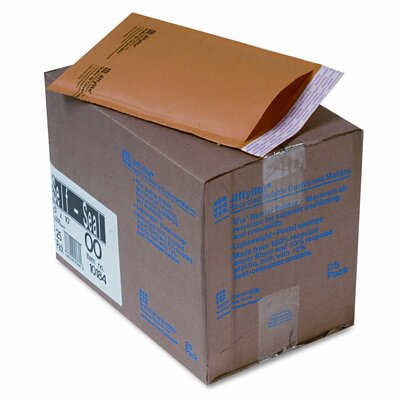 Sealed Air Corporation Jiffylite Self-Seal Mailer, Side Seam, #00, Golden Brown, 25/carton