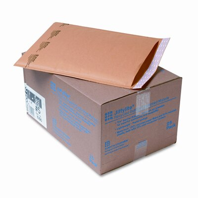 Sealed Air Corporation Jiffylite Self-Seal Mailer, Side Seam, #5, Golden Brown, 25/carton
