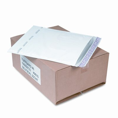 Sealed Air Corporation Jiffy TuffGard Self-Seal Cushioned Mailer, Side Seam, #6, White, 25/carton