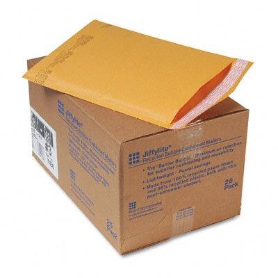 Sealed Air Corporation Jiffylite Self-Seal Mailer, Side Seam, #3, Golden Brown, 25/carton