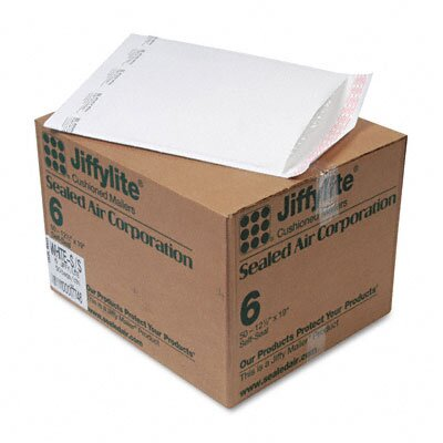 Sealed Air Corporation Jiffylite Self-Seal Mailer, Side Seam, #6, 50/Carton