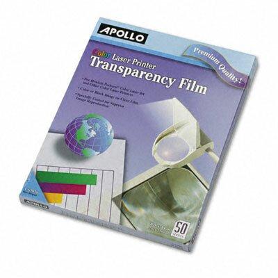 Apollo c/o Acco World Color Laser Printer/Copier Transparency Film, Letter, 50/Box