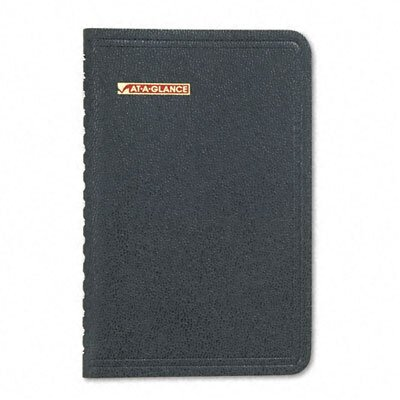 At-A-Glance Weekly Appointment Book with Phone/Address Section, 3-3/4 x 6-1/8, Black