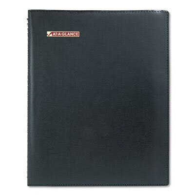 At-A-Glance Large Weekly Professional Appointment Book Plus, 8-1/4 x 10-7/8, Black, 2014