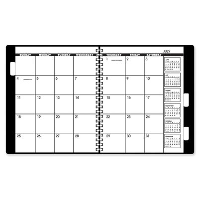 """At-A-Glance Yearly Refill Calendar, 2016, 2PPM, 22HP, 9""""x11"""", White/Cream, 2013"""