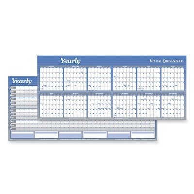Large Print Monthly Wall Calendar in Punched Leatherette Binding, 20 x ...