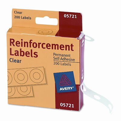 Avery Consumer Products Dispenser Pack Hole Reinforcements, 200/Pack