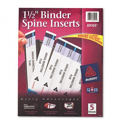 Avery Consumer Products Custom Binder Spine Inserts (5 Sheets/Pack)