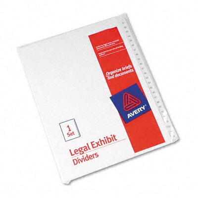 Avery Consumer Products Allstate-Style Legal Size Tab Dividers, 25-Tab, 51-75 Tab Title
