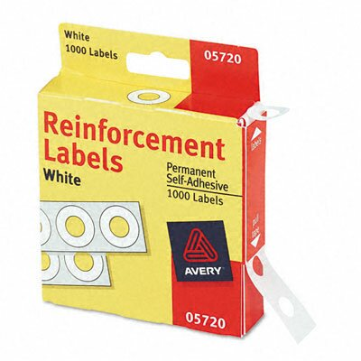 Avery Consumer Products Dispenser Pack Hole Reinforcements, 1000/Pack