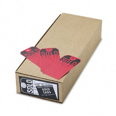 Avery Consumer Products Paper Sold Tags (500/Box)