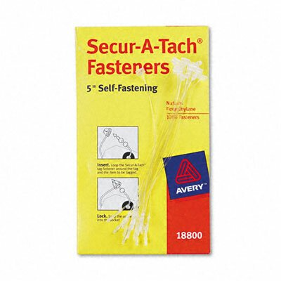 """Avery Consumer Products Secur-A-Tach Tag Fasteners, 5"""" Long (1000/Box)"""
