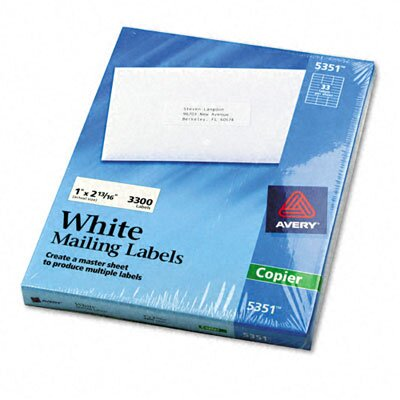 Avery Consumer Products Self-Adhesive Address Labels for Copiers, 3300/Box