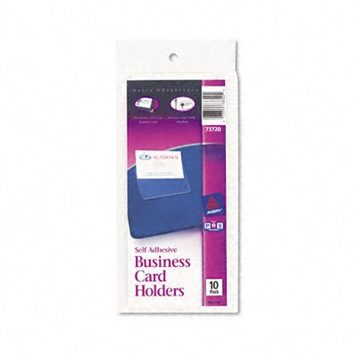 Avery Consumer Products Self-Adhesive Business Card Holders, Top Load, 10/Pack