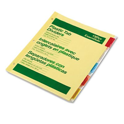 Avery Consumer Products Office Essentials Insertable Tab Index Divider,5-Tab