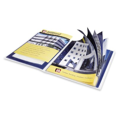 """Avery Consumer Products Presentation Books, 24 Pages, 9-1/2""""x11-1/2"""", Blue"""