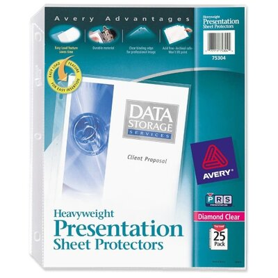 Avery Consumer Products Sheet Protector, Heavyweight, 25/BX, Clear