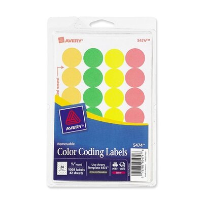 Avery Consumer Products Coding Label (Pack of 1008)