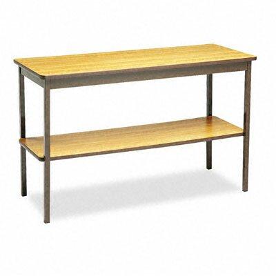 "BARRICKS MANUFACTURING CO Barricks 48""W x 18""D Utility Training Table with Bottom Shelf"