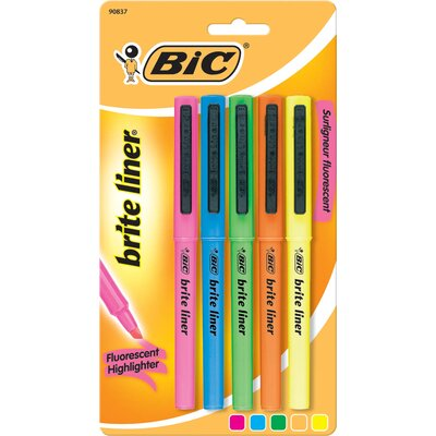 Bic Corporation 5 Count Assorted Brite Hi-Liter