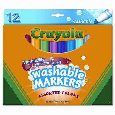 Crayola LLC Washable Broad Point Markers (12/Set)